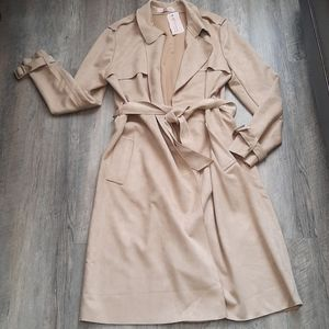 NWT Philosophy faux leather long jacket